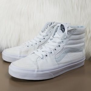 Van's Mid White Preowned Mens 3.5/Womens 5